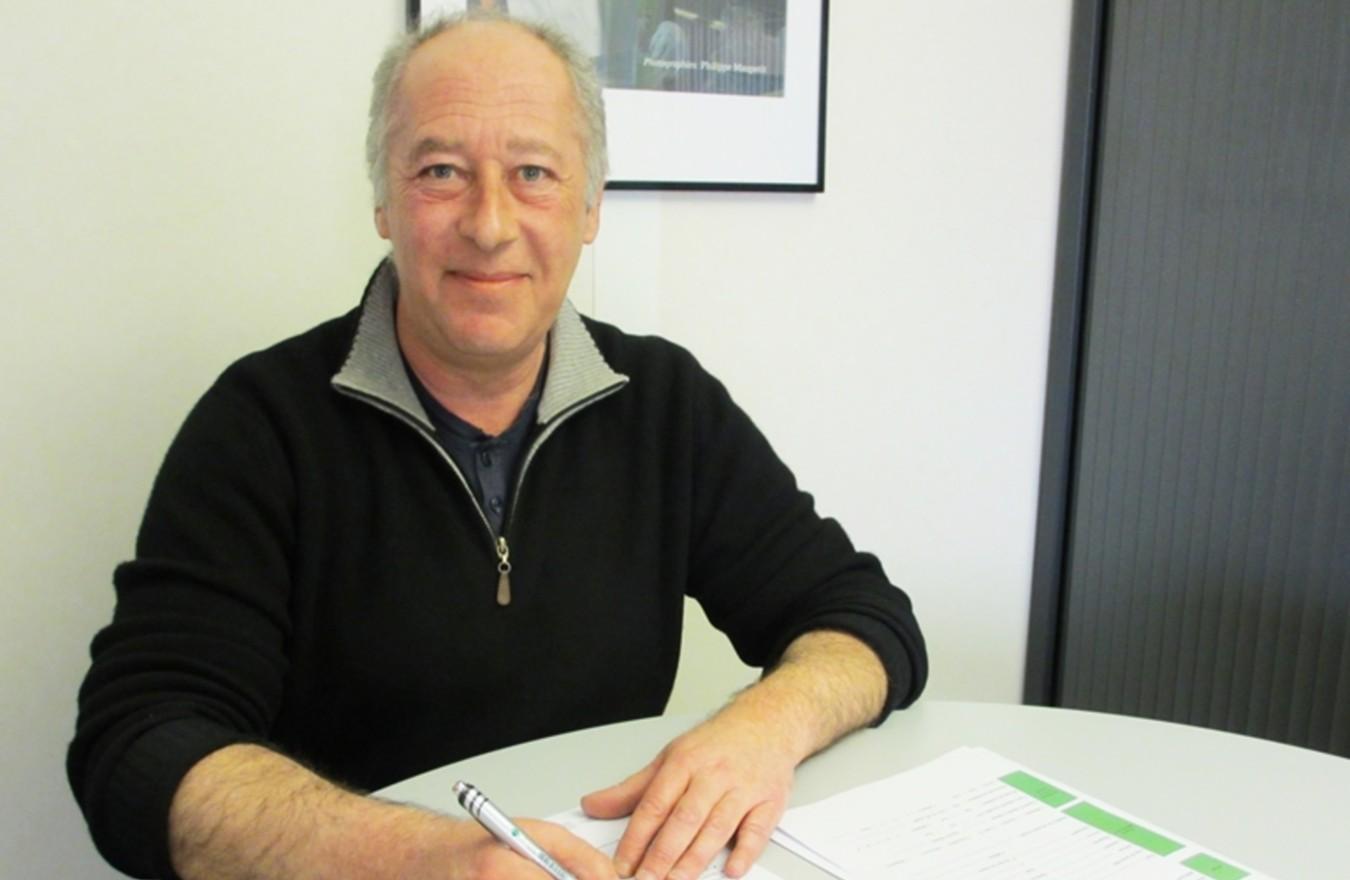 Photo de Pierre Jacquin, Conseiller en insertion professionnelle (CIP), dans l'entreprise d'insertion ID'EES 21, en Bourgognele